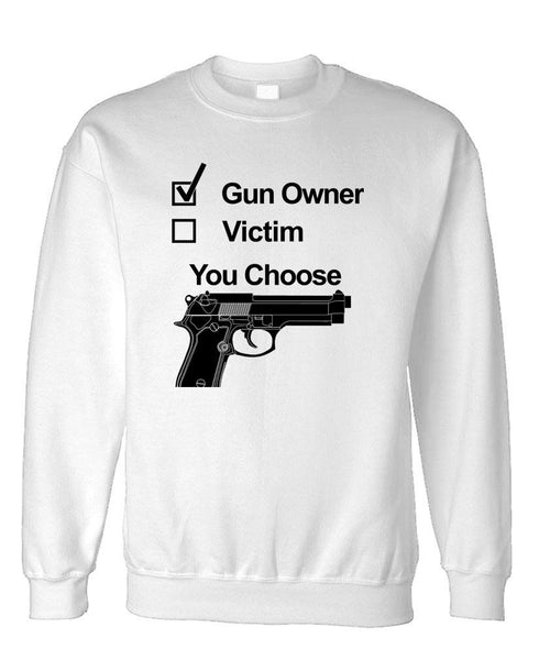 GUN OWNER - Fleece Crew Neck Pullover Sweatshirt (fleece)