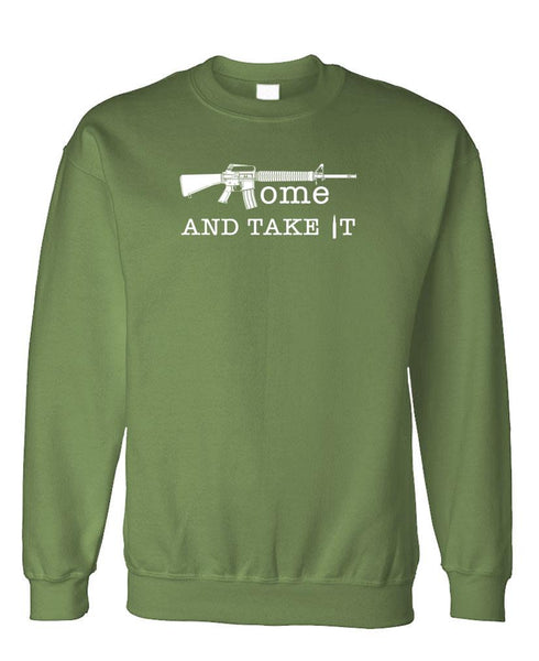 COME and TAKE IT - Fleece Crew Neck Pullover Sweatshirt (fleece)