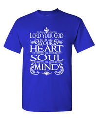 LOVE THE LORD YOUR GOD - jesus christian - Cotton Unisex T-Shirt (tee)