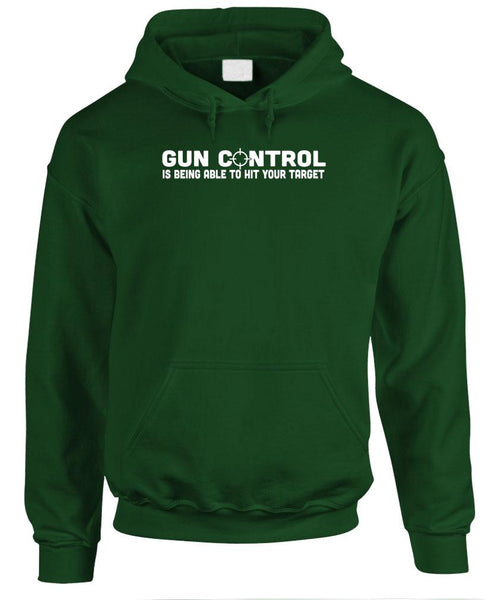 GUN CONTROL means HITTING YOUR TARGET - Fleece Pullover Hoodie (fleece)