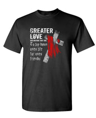 GREATER LOVE - LSA APPAREL jesus christ - Cotton Unisex T-Shirt (tee)