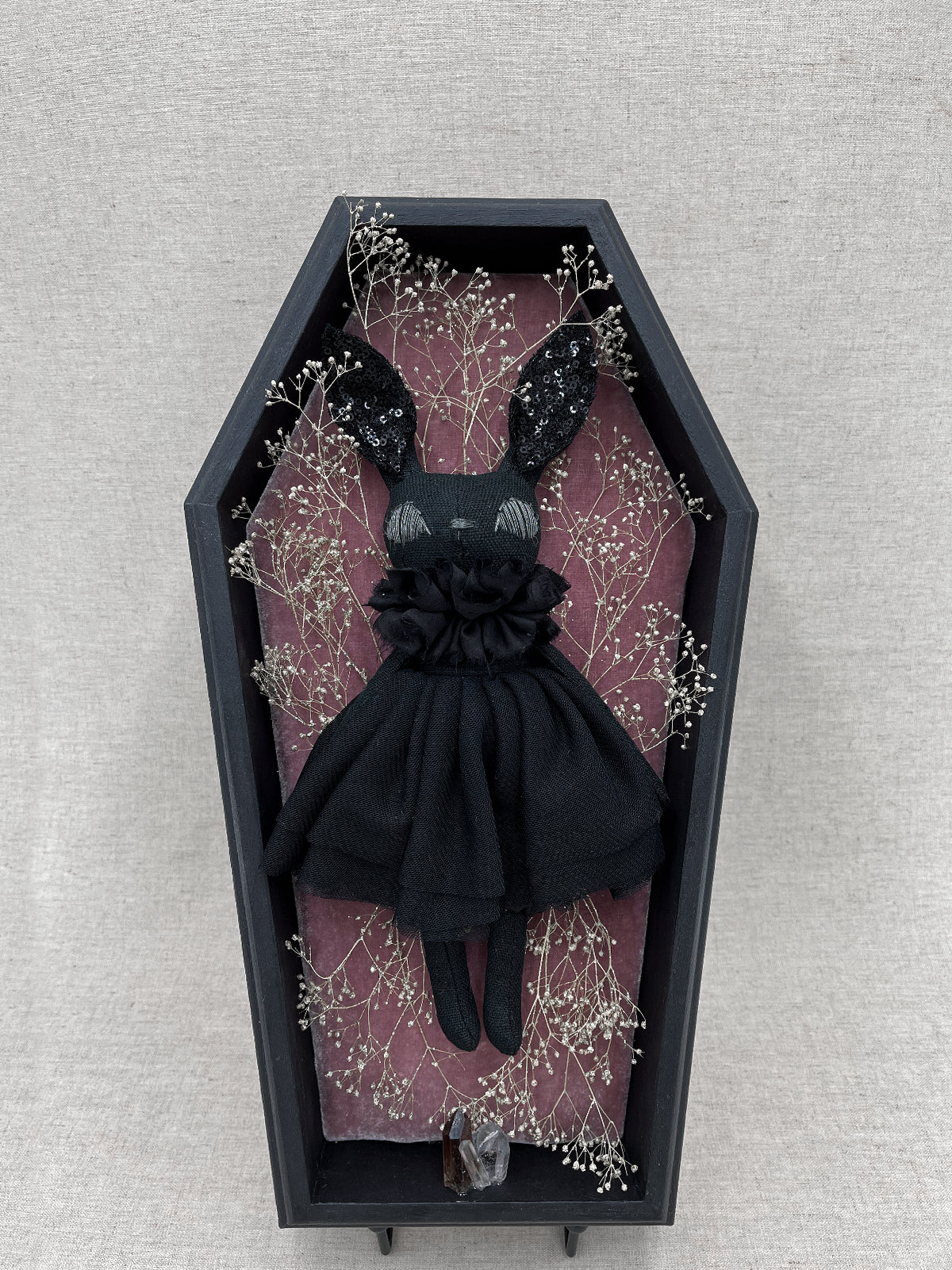 Trinette Couture Bunny Shadow Box Display