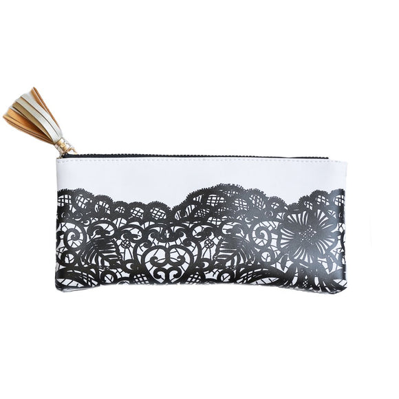 Sweet Water Decor - Black Lace Pencil Pouch