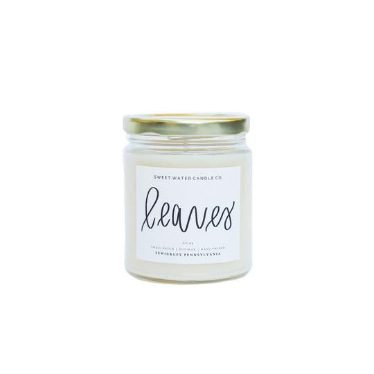 Sweet Water Decor - Leaves Soy Candle 9oz.