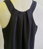 Back Pleat V-neck Tank