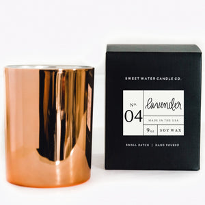 Sweet Water Decor - Lavender Soy Candle | Rose Gold Candle