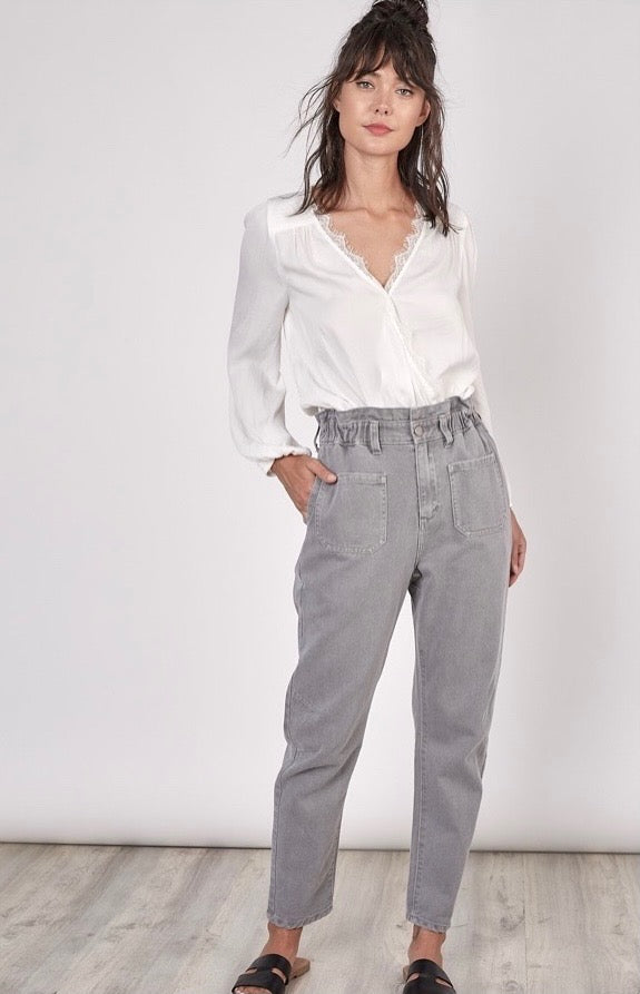 Halting High-Rise Trousers