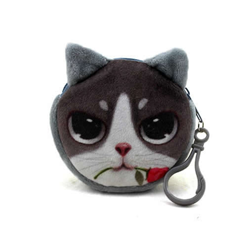 3D Cushion Cat Coin Purse Cute