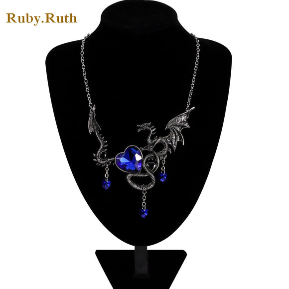 Dragon Necklace For Girls Women Gothic