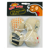 4 Pack Scratch and Rattle Balls