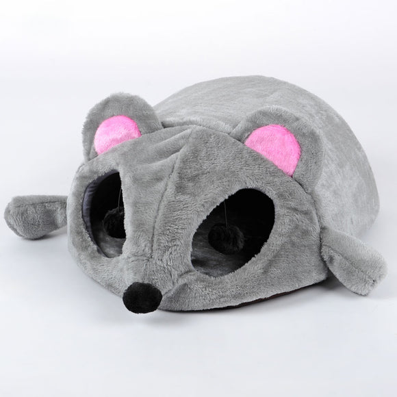 Mouse Shaped Velvet Cat Bed Cute