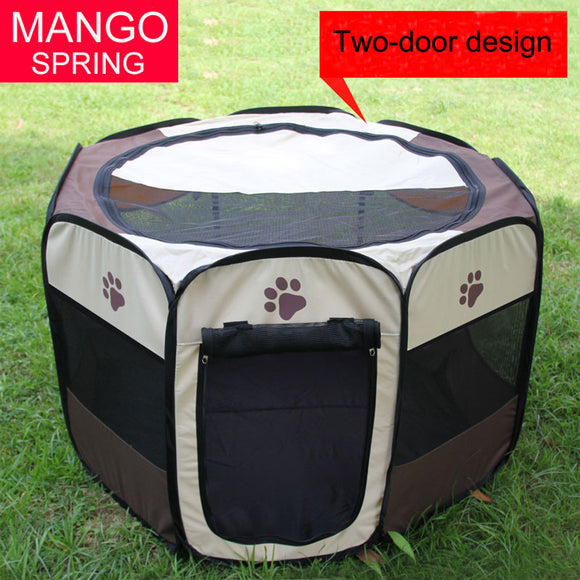 large Portable Folding Octagon Pet Kennel