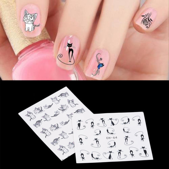Nail Pattern Art Stickers DIY Kids  Womens