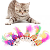 Mini Mouse Cat Chew Toys 10 Pack