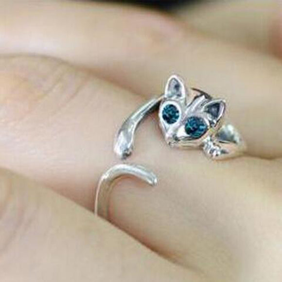 Lovely Kitten Cat Jewelry Ring