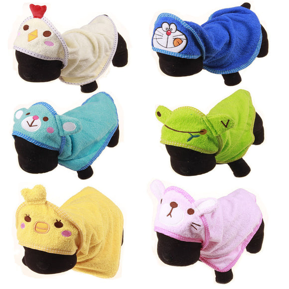 Pet Cleaning Towel Super Absorbant Cartoon Hooded