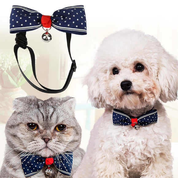 6-9.5 Inch Adjustable Cat Dog Tie Ribbon Dogs Bowtie Collar Party Holidays Decoration Puppy Kitten Necktie