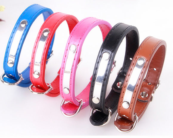 Personalizable Cat Dog Pet Collars Different Sizes