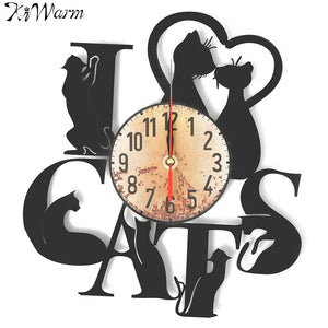 Cat Figurine Clock Great For Home Office