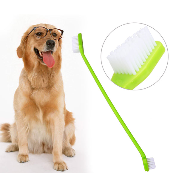 Pet Toothbrush Long Duel End Cats Dogs Random Color