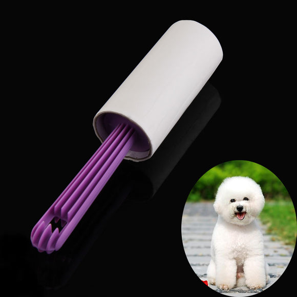 Pet Hair Remover Pick Up Brush Sticky Lint Roller 40 Sheets Purple Cats Dogs