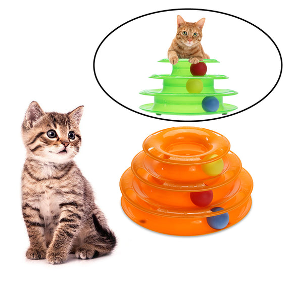 Funny Cat Disk Toy with moving Ball Interactive