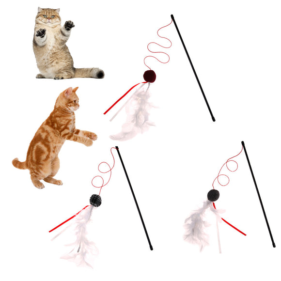 Plastic Teaser Toy for Cats Dogs