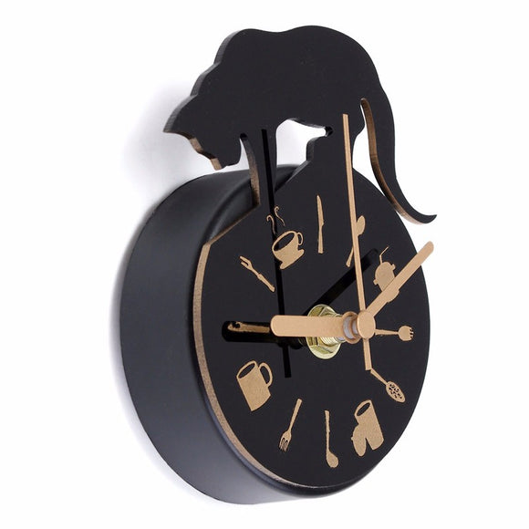 Cat Design Refrigerator Magnet Clock