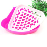 Corner Toilet Litterbox Tray for Pet 4 Colors