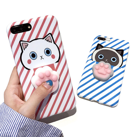 Squshy Cat Cases For iPhone 7 6 6S Plus 3D Cute