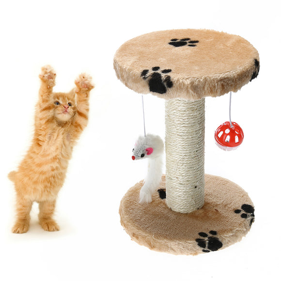 Hemp Cat Scratching Post and Perch