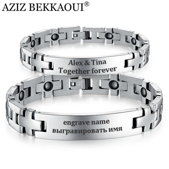 Engravable Magnetic Bracelet Stainless Steel