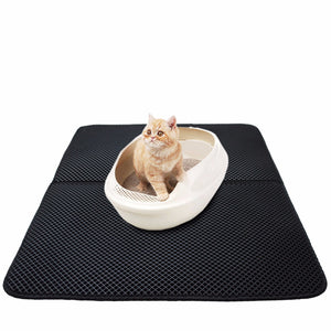 Waterproof Cat Litter Trapper Mat Folding Honeycomb Sifting Pad Protect Floor and Carpet Eco-friendly EVA Foam 50x70cm