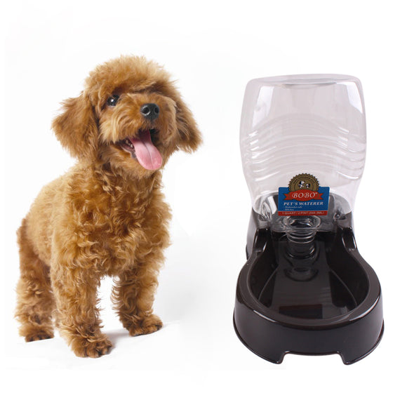 Pet Water Bottle Drinking Fountain Automatic Slow Water Dispenser Cat Dog Bowl