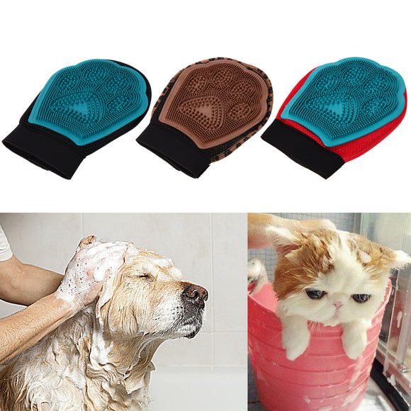 Silicone Sleek Pet Brush Mitten For Grooming