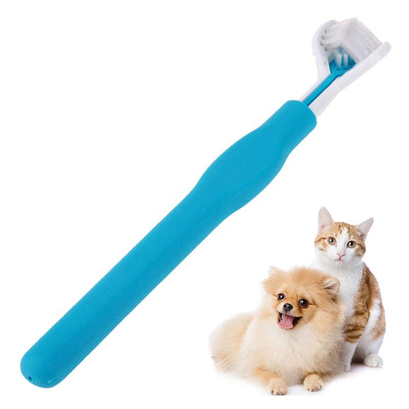 2 PACK Three Sided Pet Cleaning Brush Dog ToothBrush Teeth Care Dog Cat Cleaning Toothbrushes For Dogs Pet Supplies