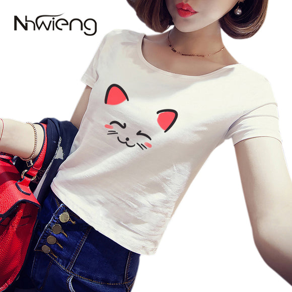 Cute Girls Cat Tshirt