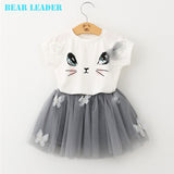 Cartoon Printed Girls 2 Piece Dress 2-6Y VERY CUTE!