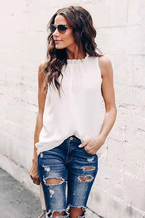 Breeze High-Neck Sleeveless Shirt - 7 Colors