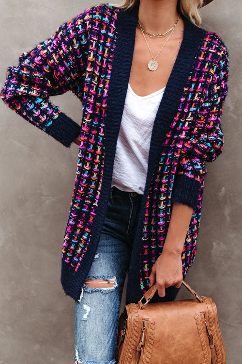 Sending Warm Wishes Colorful Knit Cardigan - 2 Colors