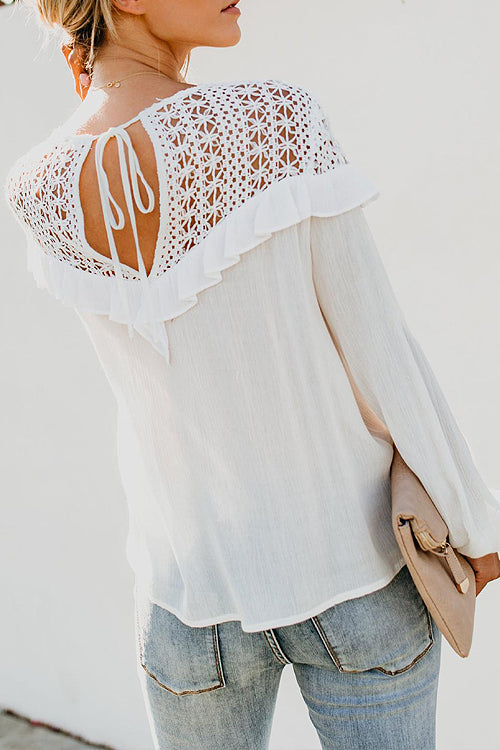 Absolute Adoration Lace Embroidered Shirt