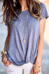 Livin' Breezy High Neck Pleated Chiffon Top - 5 Colors