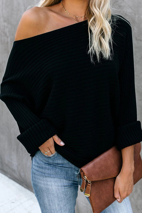 Best Time Pure Color OL Knit Sweater - 3 Colors