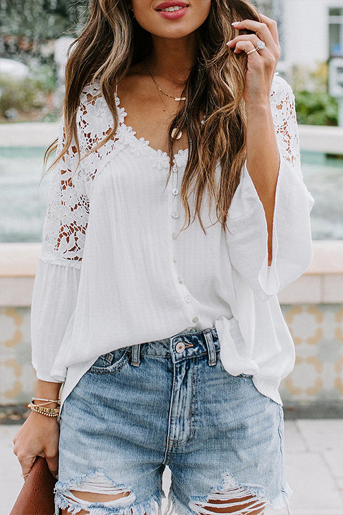 Dream Date Lace Embroidery Top - 3 Colors