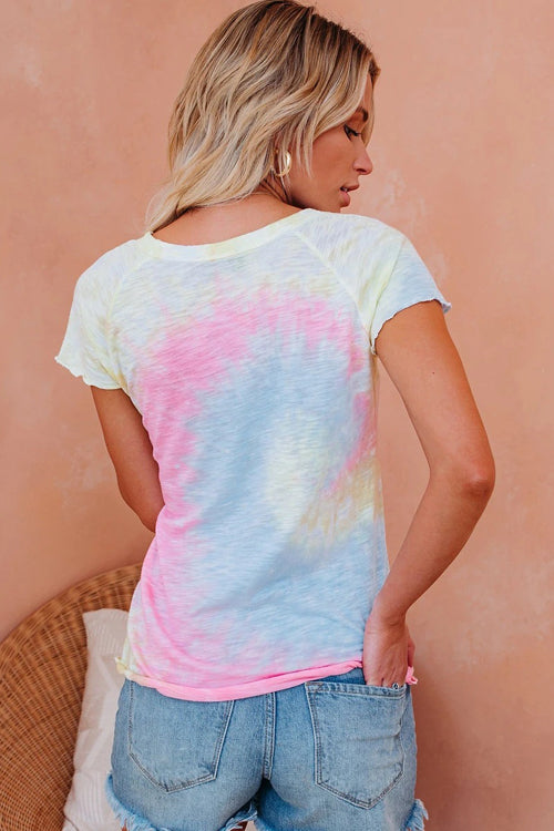 It's a Mood Tie-Dye Short Sleeve Top