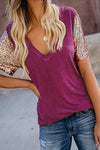 Wildrose Floral Print V-neck Shirt - 3 Colors