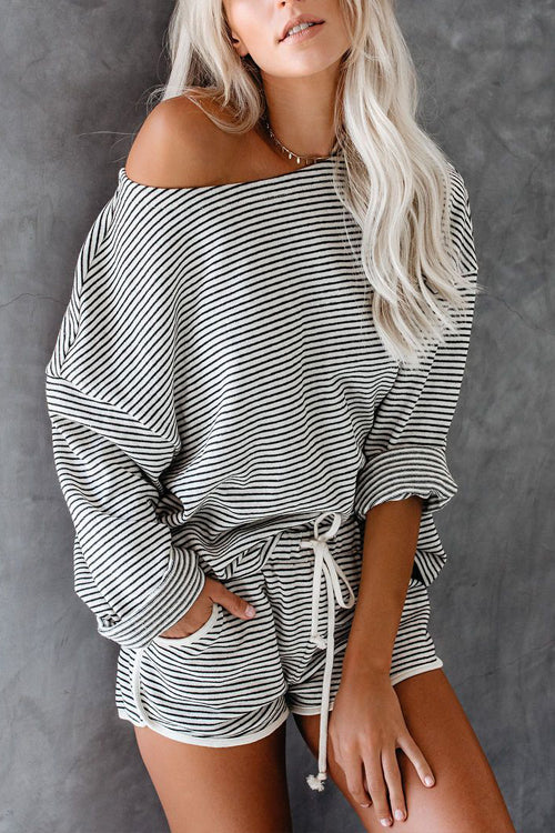 Bring Me Back Stripe Casual Top & Shorts