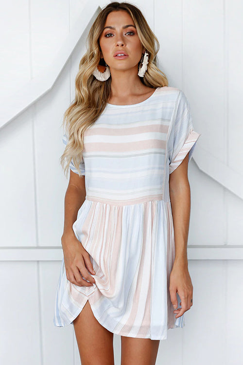 Dream of Me Ice Cream Stripe Mini Dress