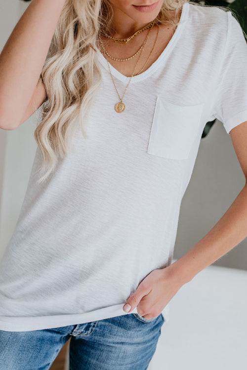 Basics Essential Pure Color V-neck Tee - 3 Colors