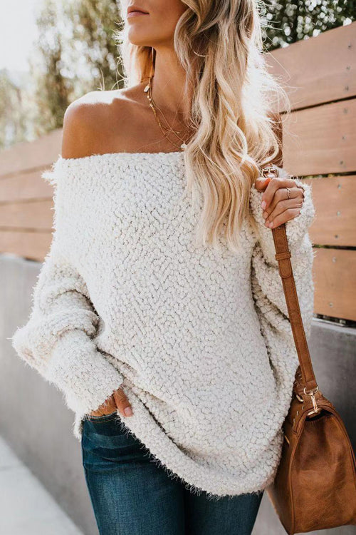 Charmingly Chill Fluffy Knit Sweater - 3 Colors